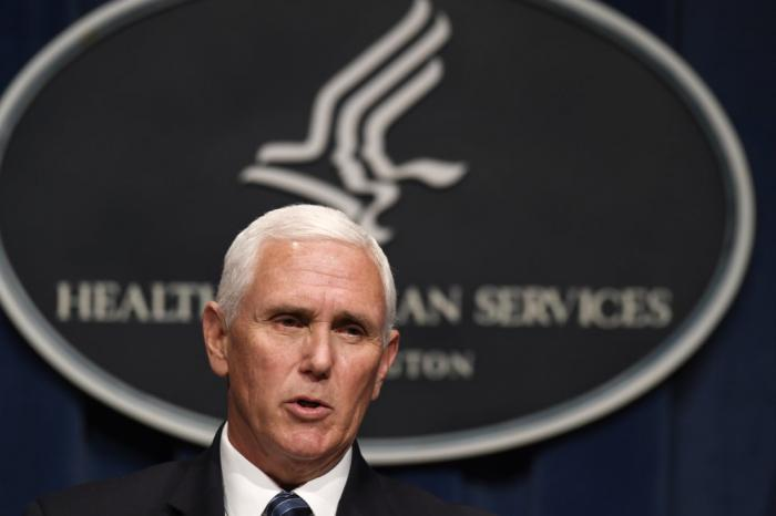 Vice President Mike Pence speaks during a news conference with the Coronavirus task force at the Department of Health and Human Services in Washington, Friday, June 26, 2020