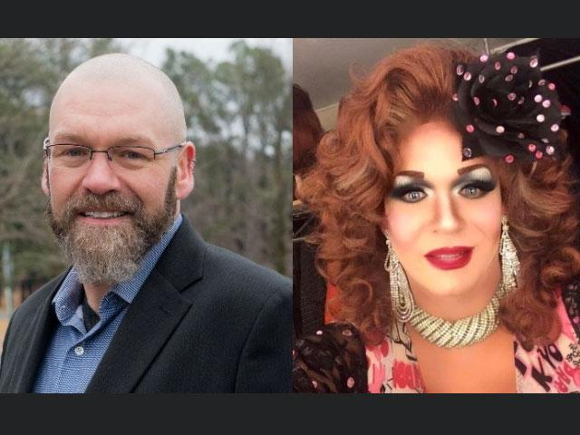 Eric Morrison and his drag persona, Anita Mann