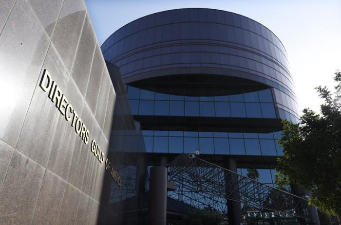 The Directors Guild of America headquarters is pictured on April 16, 2020, in Los Angeles.