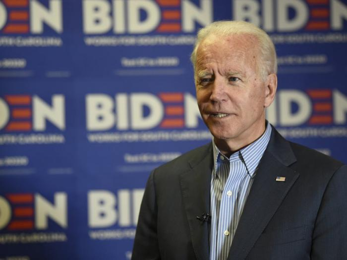 Democratic presidential candidate, former Vice President Joe Biden, speaks during an interview on Saturday, Oct. 26, 2019, in Florence, S.C.