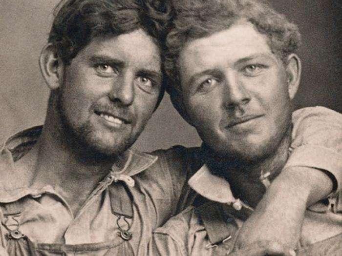 Detail from the cover of 'LOVING - A Photographic History of Men in Love 1850s - 1950s