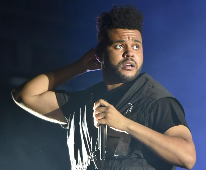 The Weeknd performs on day three at Lollapalooza