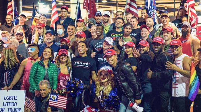 Log Cabin Republicans rally for President Trump in Los Angeles on October 23