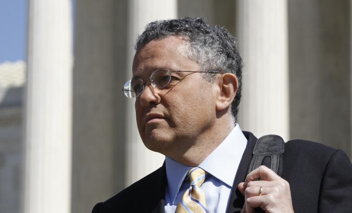 CNN legal analyst Jeffrey Toobin leaves the Supreme Court.