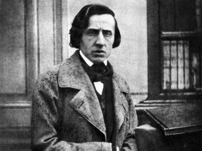 This photo - the only one on Frederic Chopin known to exist - was taken in 1849.